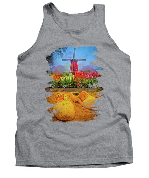 Yellow Wooden Shoes Tank Top