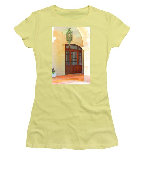 Women's T-Shirt (Junior Cut) featuring the photograph  Elegant Arched Entrance by Judy Palkimas