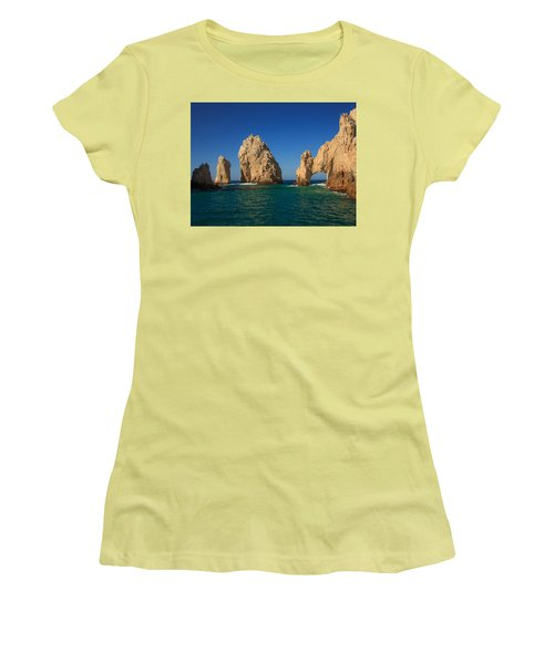 The Sea Arch El Arco De Cabo San Lucas Women's T-Shirt (Athletic Fit)