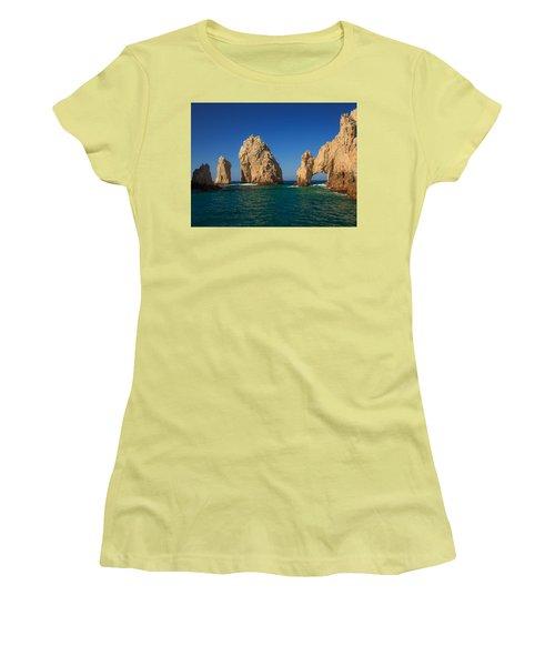The Sea Arch El Arco De Cabo San Lucas Women's T-Shirt (Athletic Fit)