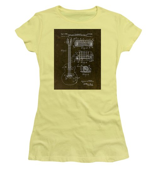 1955 Gibson Les Paul Patent Drawing Women's T-Shirt (Athletic Fit)
