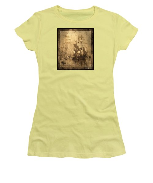 A Pirate Looks At Forty Women's T-Shirt (Junior Cut) by John Stephens