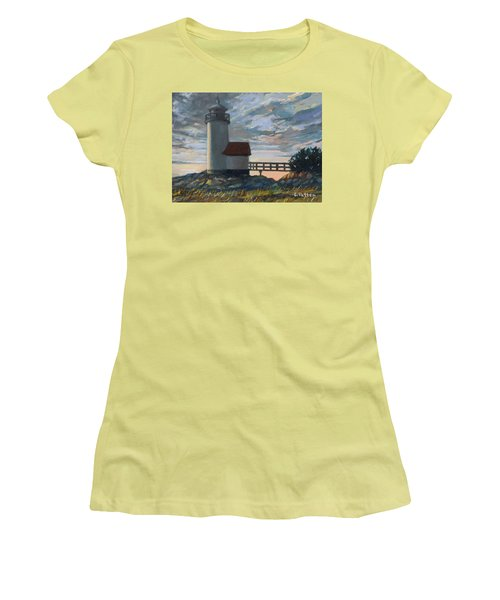 Annisquam Light Women's T-Shirt (Junior Cut) by Eileen Patten Oliver