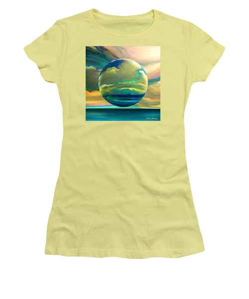 Clouding The Poets Eye Women's T-Shirt (Athletic Fit)