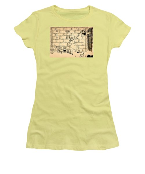 Women's T-Shirt (Junior Cut) featuring the drawing Escape by Reynold Jay
