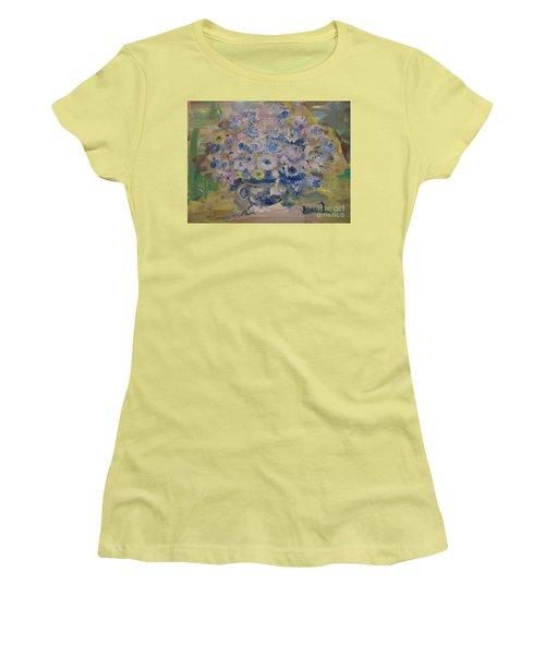 Flow Bleu Women's T-Shirt (Athletic Fit)