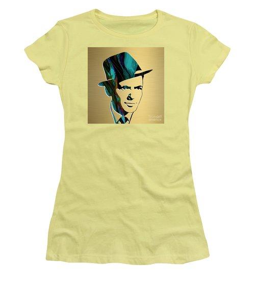 Frank Sinatra Gold Series Women's T-Shirt (Junior Cut) by Marvin Blaine