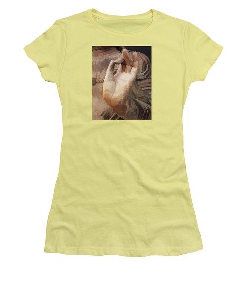 Hand Of Buddha C2014 Women's T-Shirt (Junior Cut) by Paul Ashby