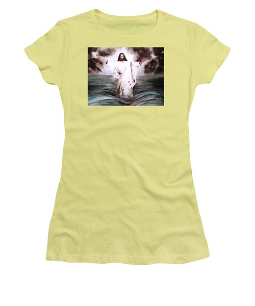 Women's T-Shirt (Junior Cut) featuring the painting I Am by Hazel Holland