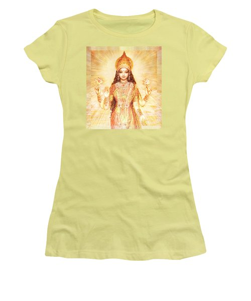 Lakshmi The Goddess Of Fortune And Abundance Women's T-Shirt (Athletic Fit)