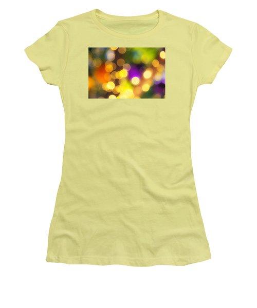 Light Circles Women's T-Shirt (Athletic Fit)