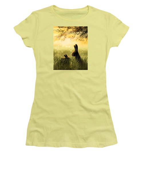 Love Women's T-Shirt (Junior Cut) by Veronica Minozzi