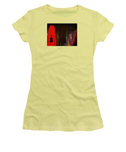 Women's T-Shirt (Junior Cut) featuring the painting Mingus by Michael Cross