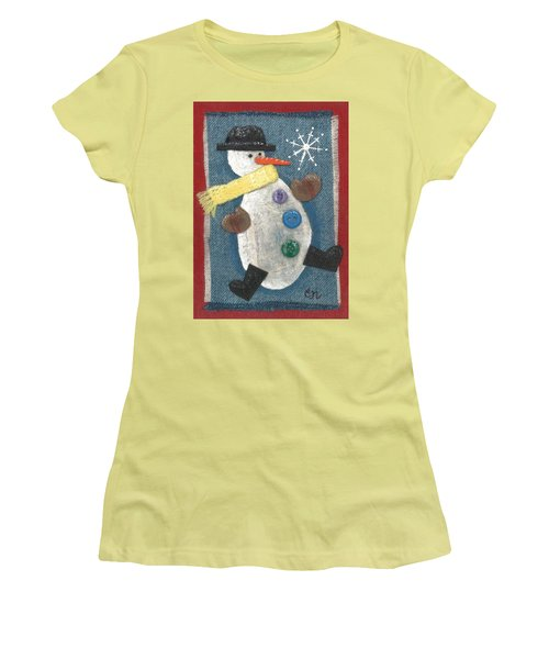 Mr. Snowjangles Women's T-Shirt (Athletic Fit)