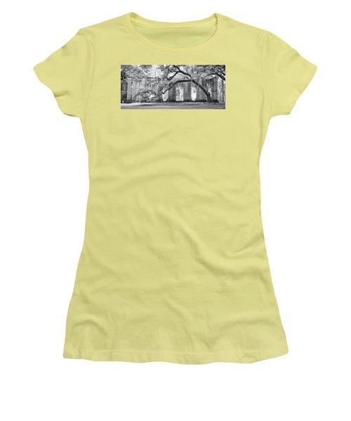 Old Sheldon Church - Side View Women's T-Shirt (Junior Cut) by Scott Hansen
