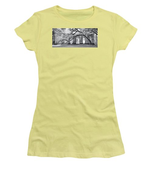 Old Sheldon Church - Side View Women's T-Shirt (Athletic Fit)