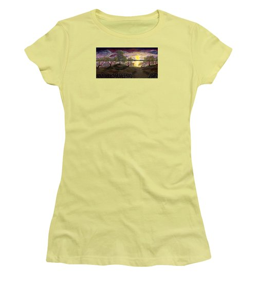 Peaceful Sunset Women's T-Shirt (Junior Cut) by Rebecca Parker