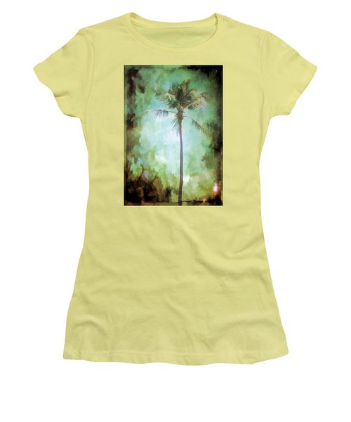 Women's T-Shirt (Junior Cut) featuring the photograph Pleasant Night To Be Alone by Jan Amiss Photography