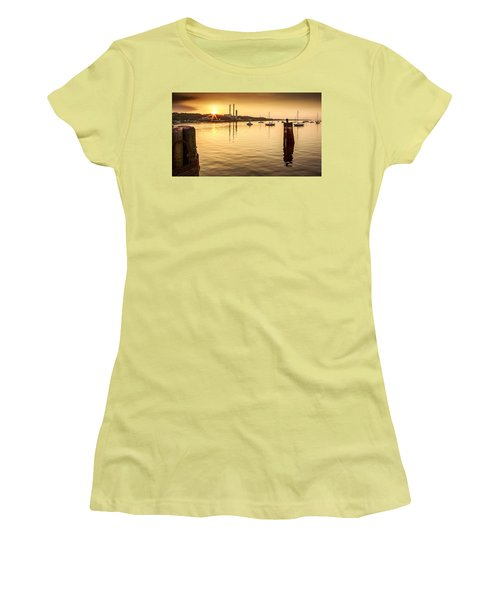 Port Jefferson Women's T-Shirt (Junior Cut) by Mihai Andritoiu