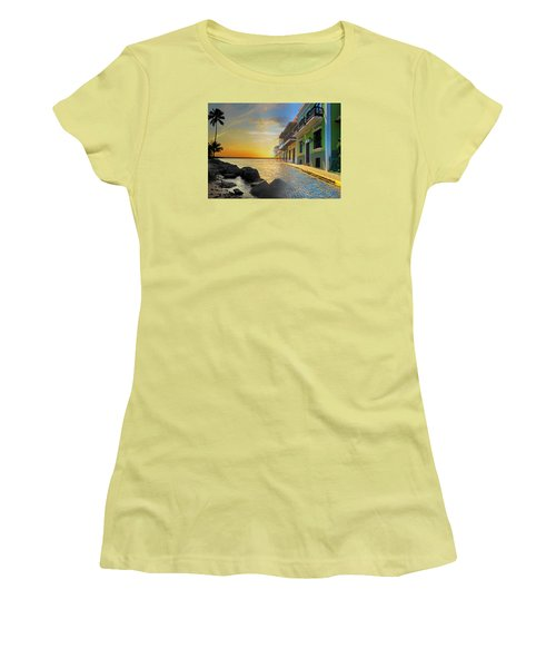 Women's T-Shirt (Junior Cut) featuring the photograph Puerto Rico Collage 4 by Stephen Anderson