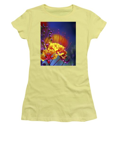 Red Yellow Blossoms 10197 Women's T-Shirt (Athletic Fit)