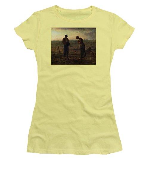 The Angelus Women's T-Shirt (Junior Cut) by Jean Francois Millet