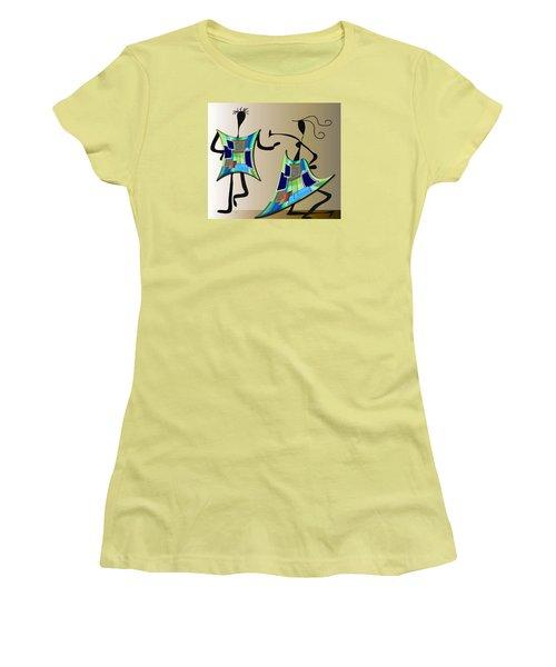 The Dancers Women's T-Shirt (Junior Cut) by Iris Gelbart