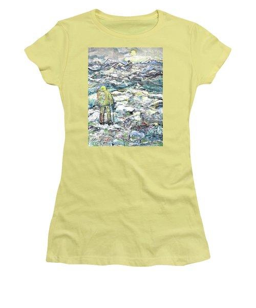 Tranquility Women's T-Shirt (Junior Cut) by Evelina Popilian