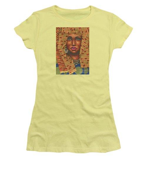 Headwrap Women's T-Shirt (Junior Cut) by Alga Washington