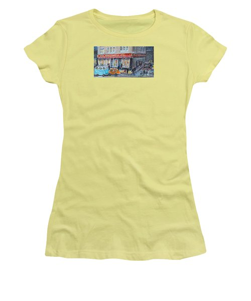 Woolworth's Holiday Shopping Women's T-Shirt (Junior Cut) by Rita Brown