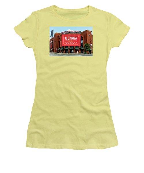 11 Time World Champion St Louis Cardnials Dsc01294 Women's T-Shirt (Junior Cut) by Greg Kluempers