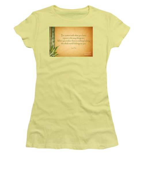114- Lao Tzu Women's T-Shirt (Athletic Fit)