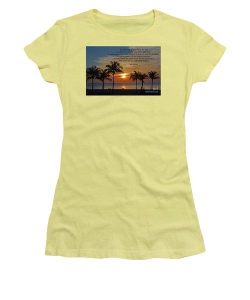 154- Bob Moawad Women's T-Shirt (Junior Cut) by Joseph Keane
