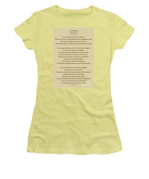 184- Kahlil Gibran - On Children Women's T-Shirt (Athletic Fit)