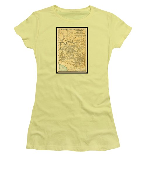 1891 Arizona Map Women's T-Shirt (Athletic Fit)