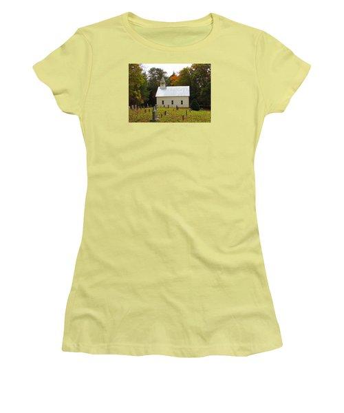 Cade's Cove 1902 Methodist Church Women's T-Shirt (Junior Cut) by Kathy Long
