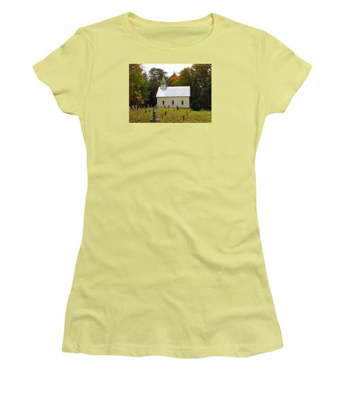 Cade's Cove 1902 Methodist Church Women's T-Shirt (Athletic Fit)