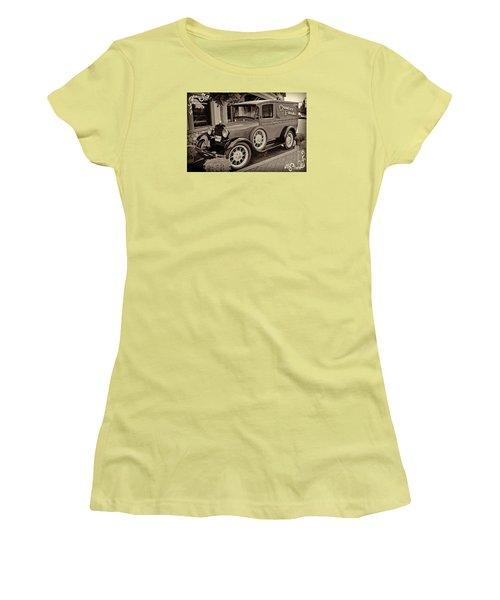 1930 Ford Panel Truck Women's T-Shirt (Junior Cut) by Richard Farrington
