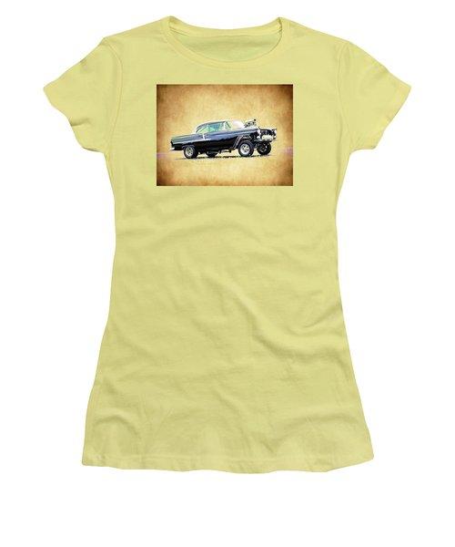 1955 Chevy Gasser Women's T-Shirt (Junior Cut) by Steve McKinzie