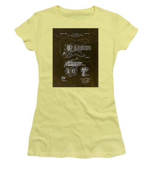 1956 Fender Tremolo Patent Drawing II Women's T-Shirt (Junior Cut)