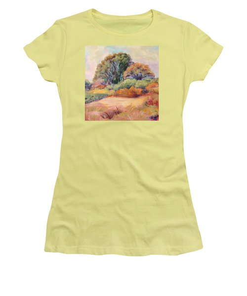 Henry's Backyard Women's T-Shirt (Junior Cut) by Patricia Piffath