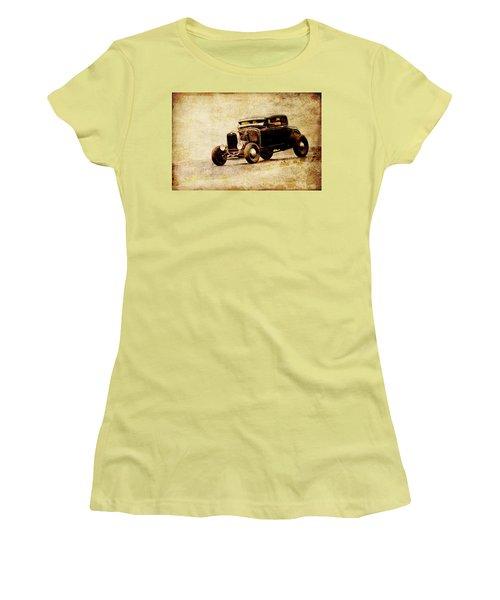 Hot Rod Ford Women's T-Shirt (Junior Cut) by Steve McKinzie
