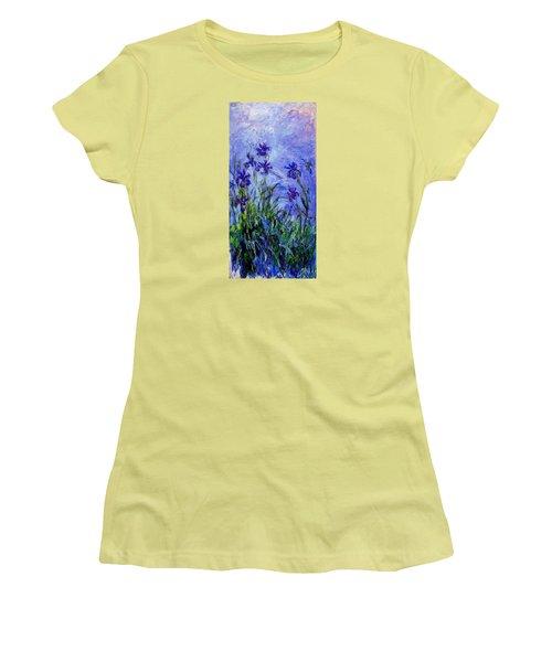 Irises Women's T-Shirt (Junior Cut) by Celestial Images