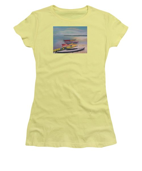 Kayaking Trip Women's T-Shirt (Athletic Fit)