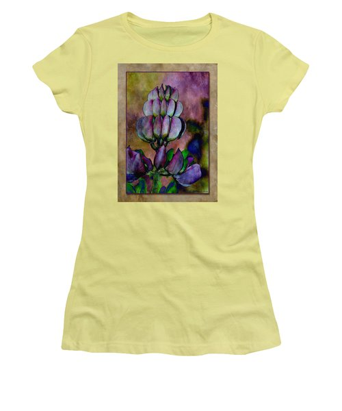 Women's T-Shirt (Junior Cut) featuring the photograph Lupin Blossom by WB Johnston