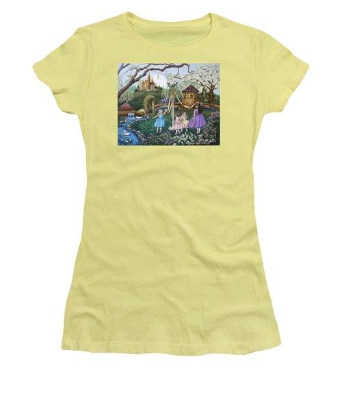 Mayday Serenade  Women's T-Shirt (Junior Cut) by Linda Simon