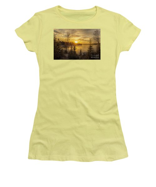 Women's T-Shirt (Junior Cut) featuring the photograph Norway by Rose-Maries Pictures