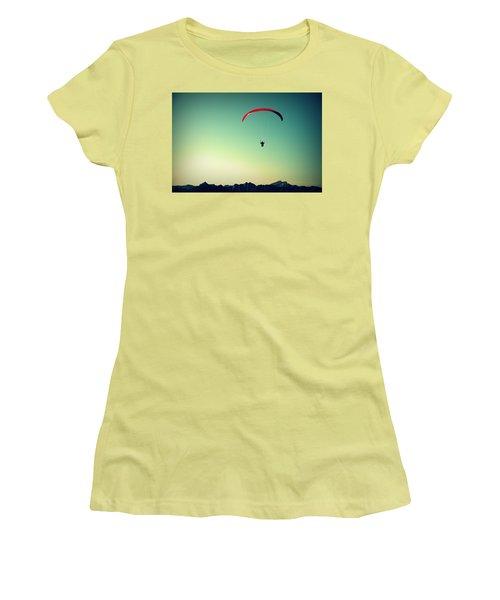 Paraglider Women's T-Shirt (Junior Cut) by Chevy Fleet