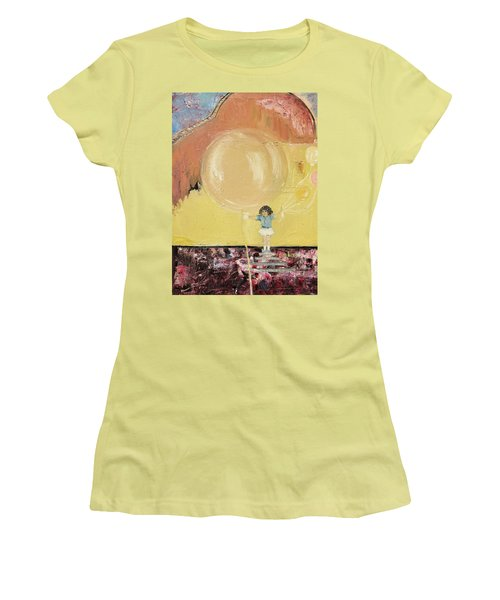Women's T-Shirt (Junior Cut) featuring the painting Playground by Evelina Popilian