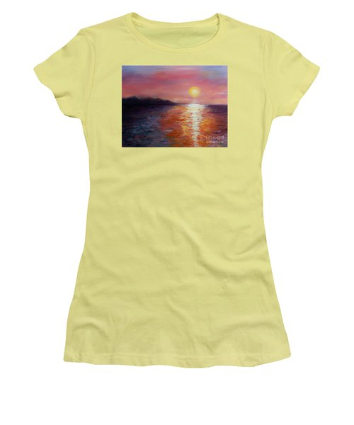 Sunset In Ixtapa Women's T-Shirt (Athletic Fit)